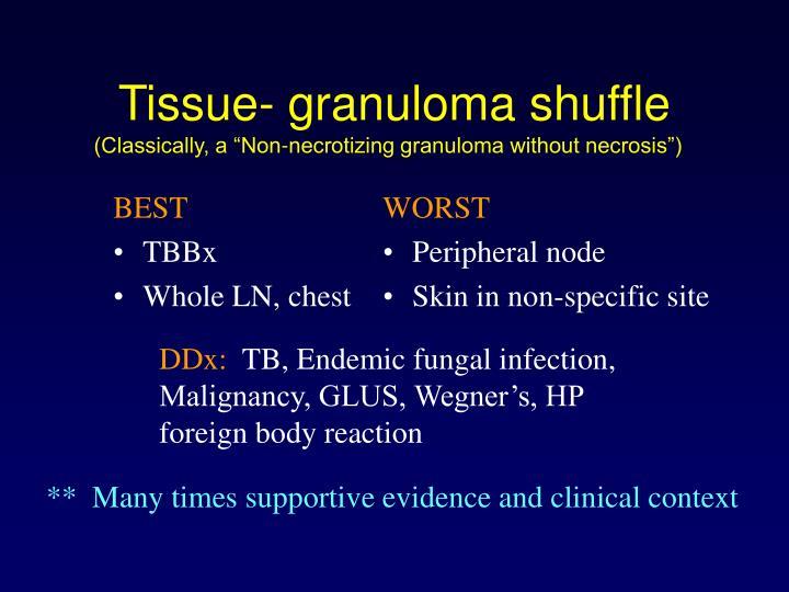 Tissue- granuloma shuffle