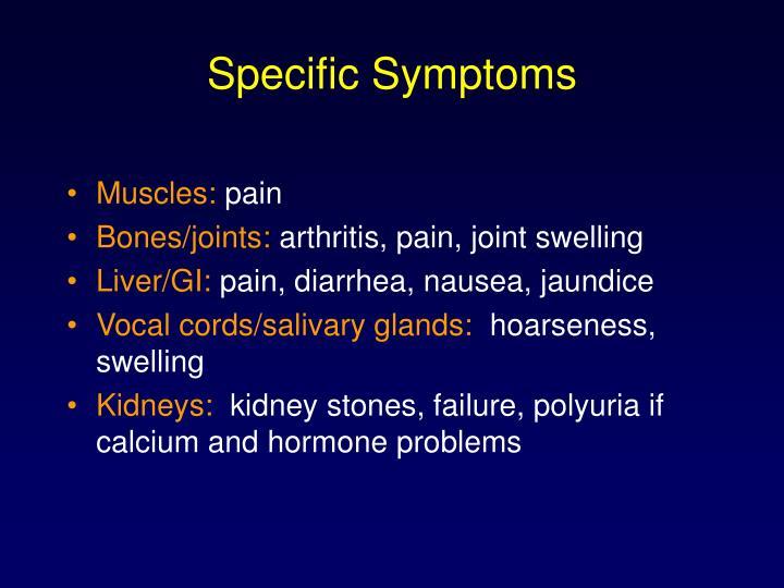 Specific Symptoms