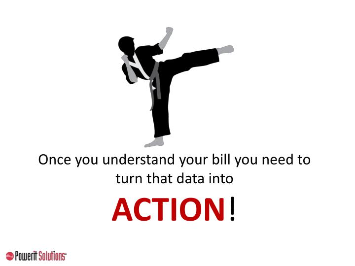 Once you understand your bill you need to turn that data into