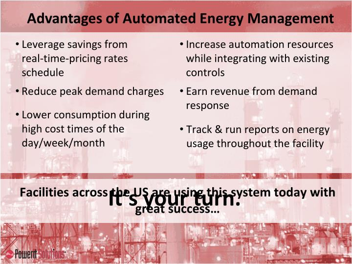 Advantages of Automated Energy Management