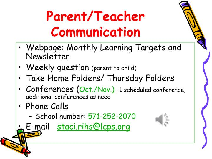 Parent teacher communication