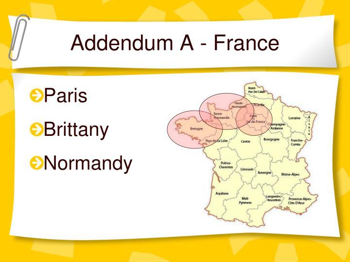 Addendum A - France