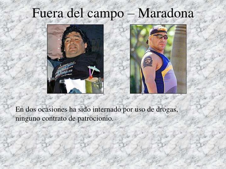 Fuera del campo – Maradona