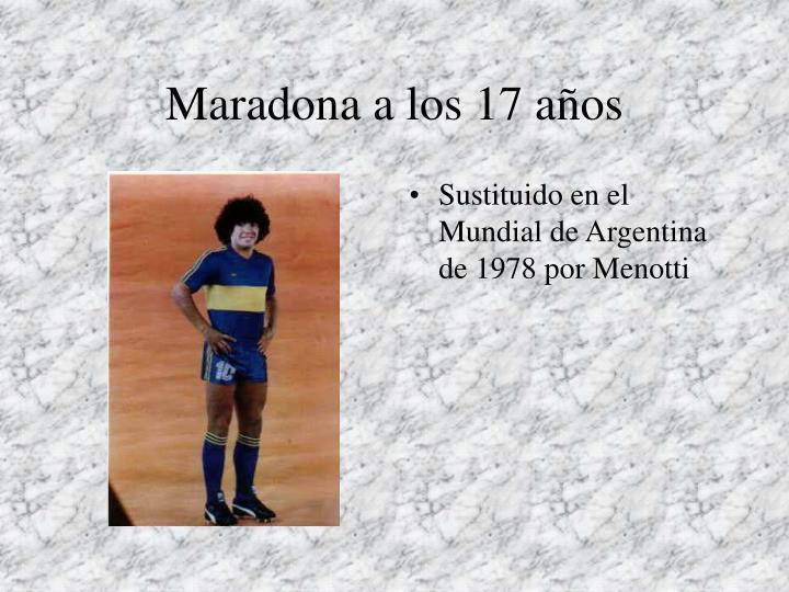 Maradona a los 17 años