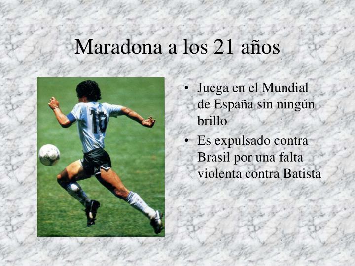 Maradona a los 21 años