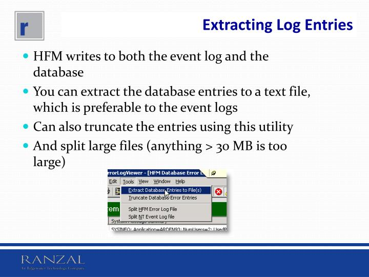 Extracting Log Entries