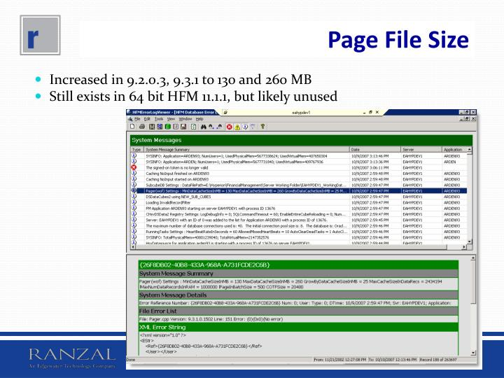 Page File Size