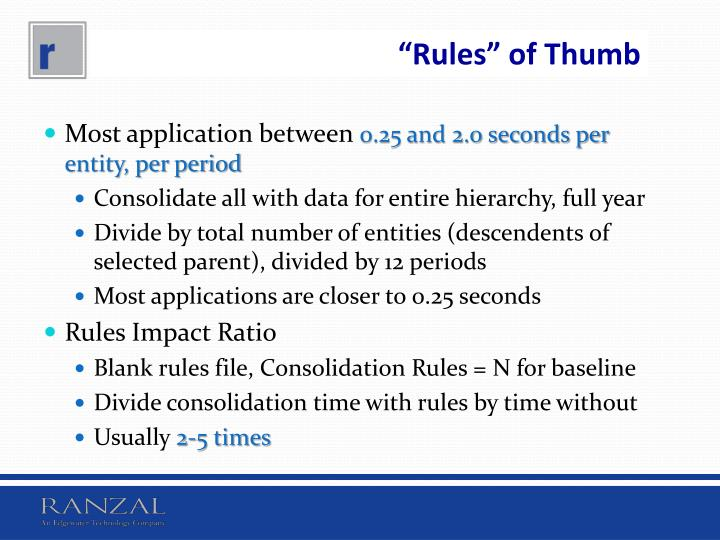 """Rules"" of Thumb"