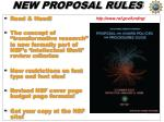 new proposal rules