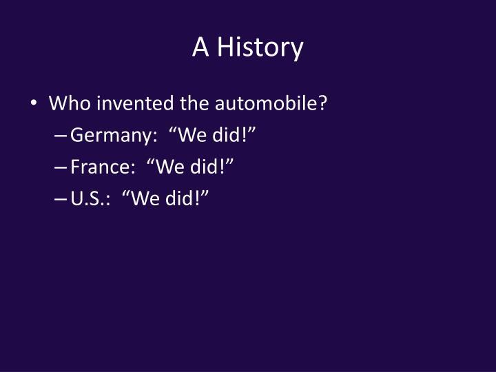 A History