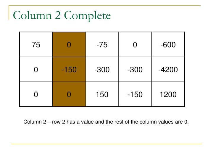 Column 2 Complete