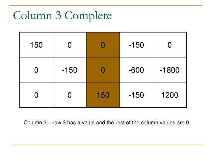Column 3 Complete