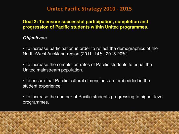 Unitec Pacific Strategy 2010 - 2015