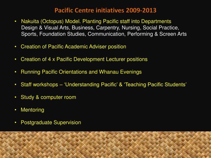 Pacific Centre initiatives