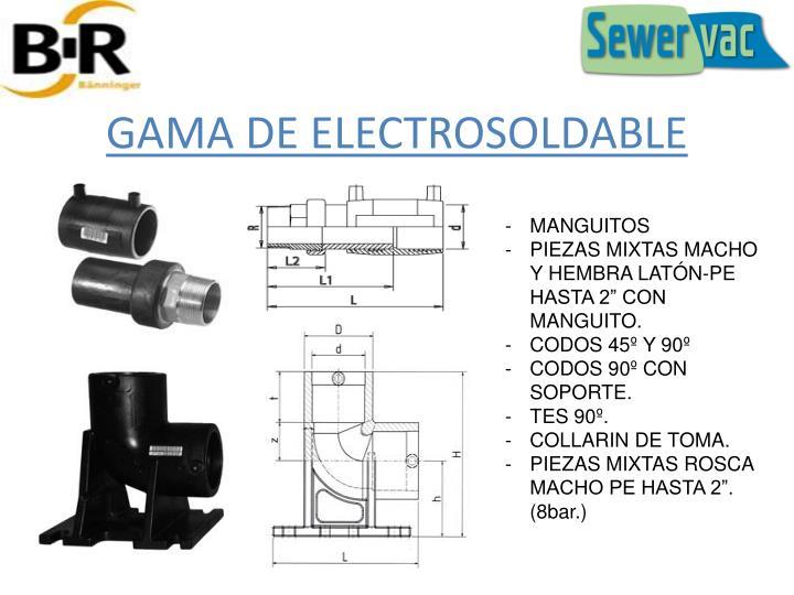 GAMA DE ELECTROSOLDABLE