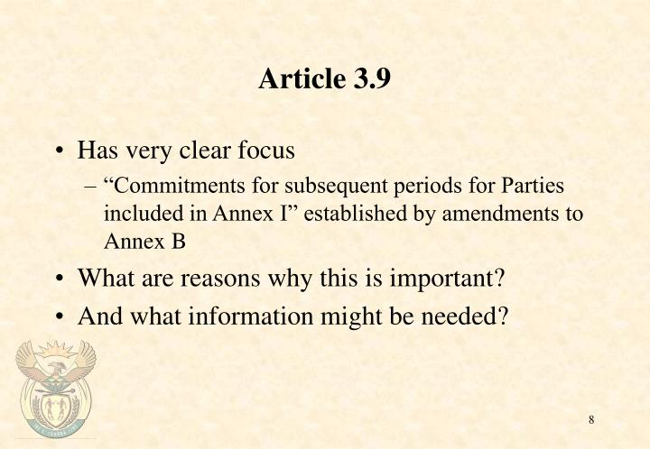 Article 3.9