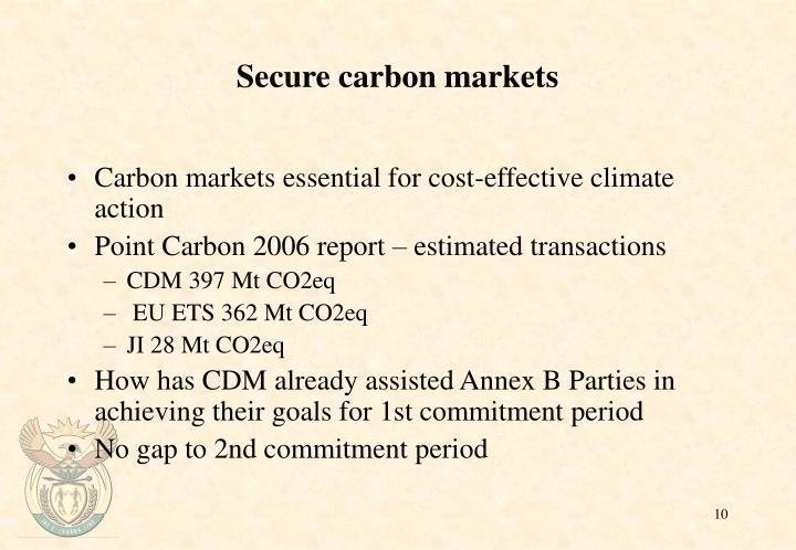 Secure carbon markets