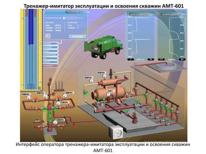 Тренажер-имитатор эксплуатации и освоения скважин АМТ-601