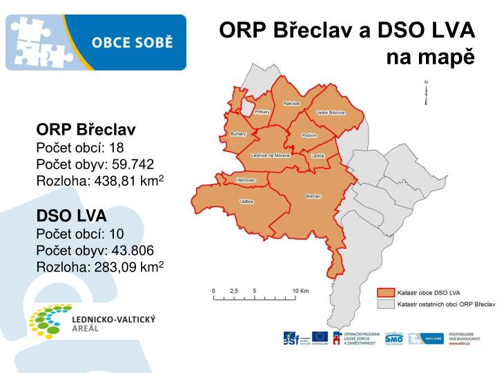Orp b eclav a dso lva na map
