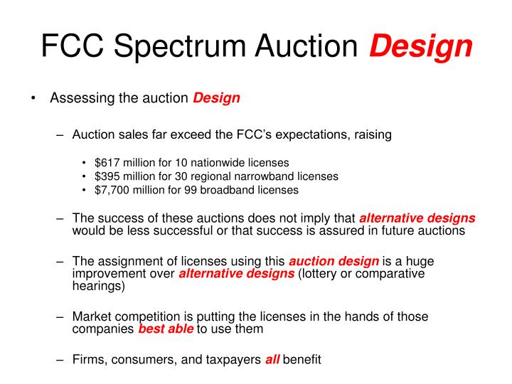 FCC Spectrum Auction