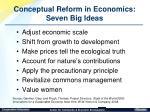 conceptual reform in economics seven big ideas