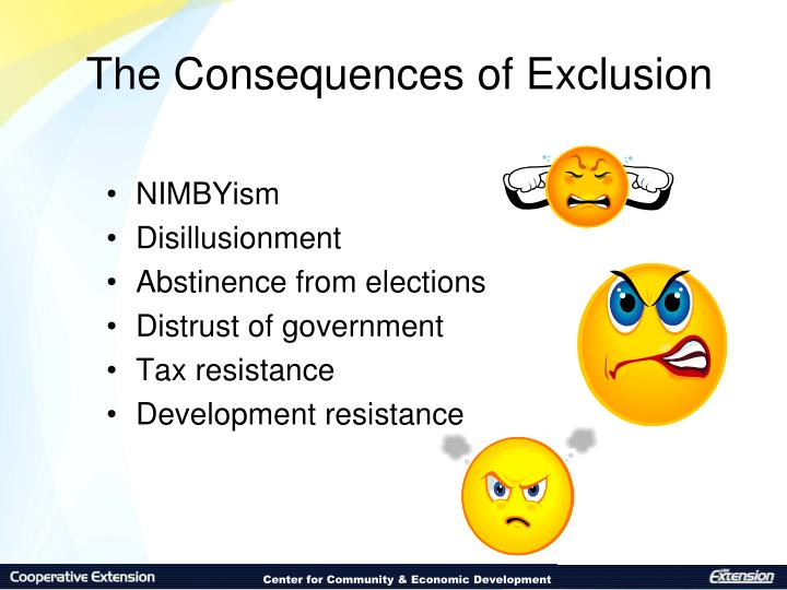 The Consequences of Exclusion
