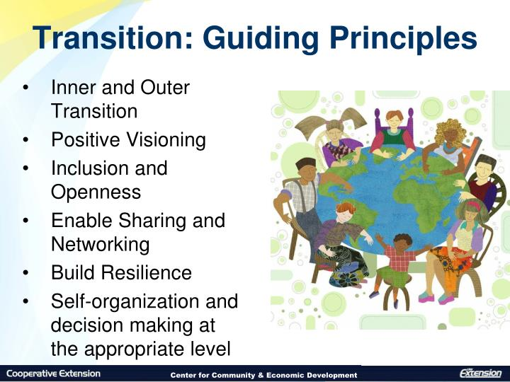 Transition: Guiding Principles