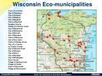 wisconsin eco municipalities
