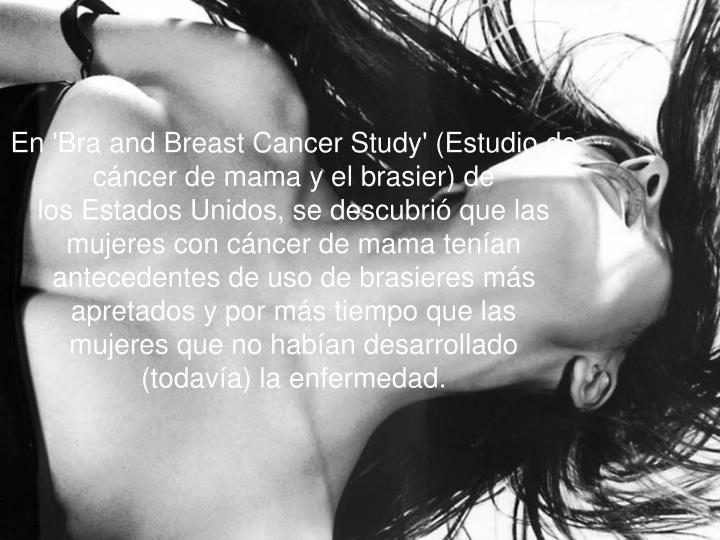 En 'Bra and Breast Cancer Study' (Estudio de cáncer de mama y el brasier) de