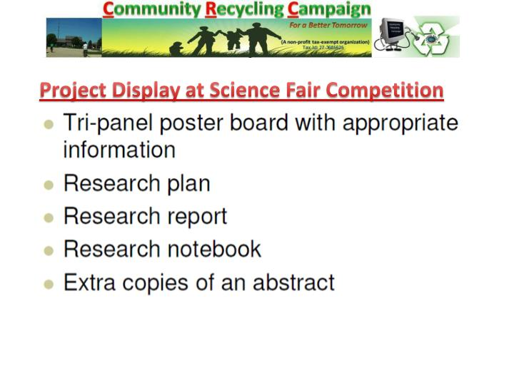 Project Display at Science Fair Competition