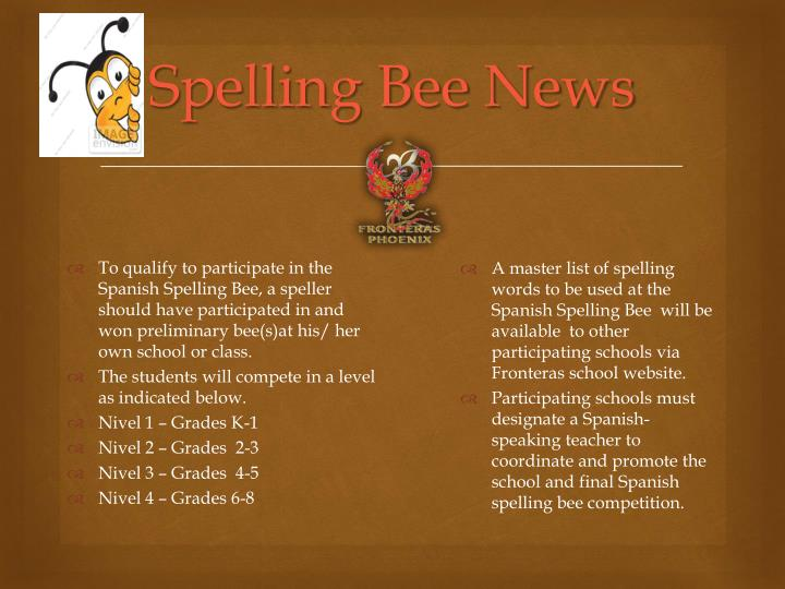 Spelling Bee News