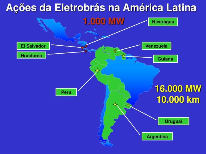Ações da Eletrobrás na América Latina
