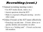 recruiting cont