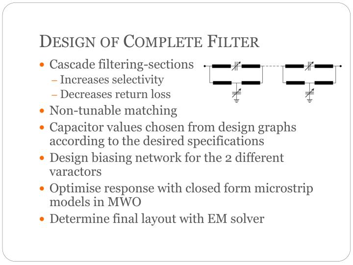 Design of Complete Filter
