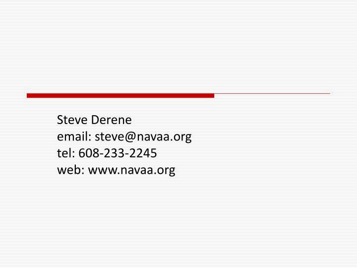 Steve Derene