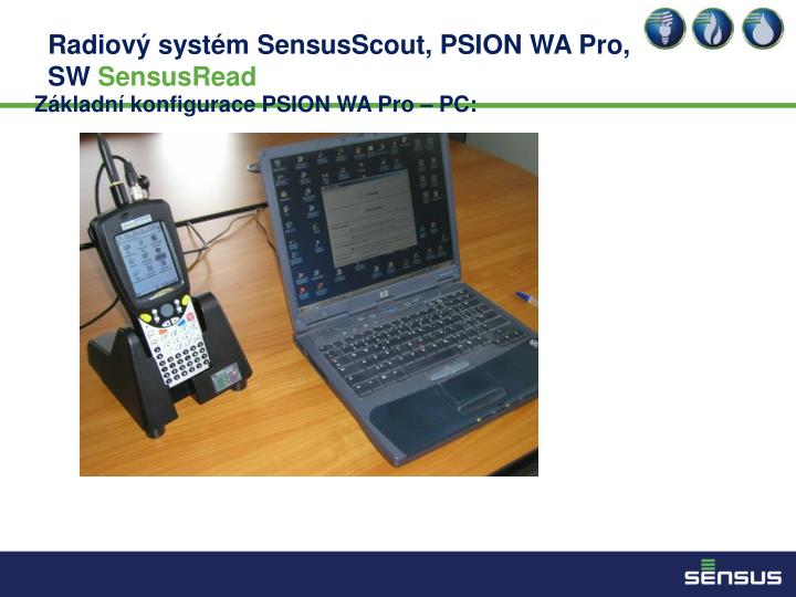Základní konfigurace PSION WA Pro – PC: