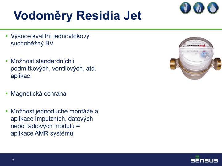 Vodoměry Residia Jet