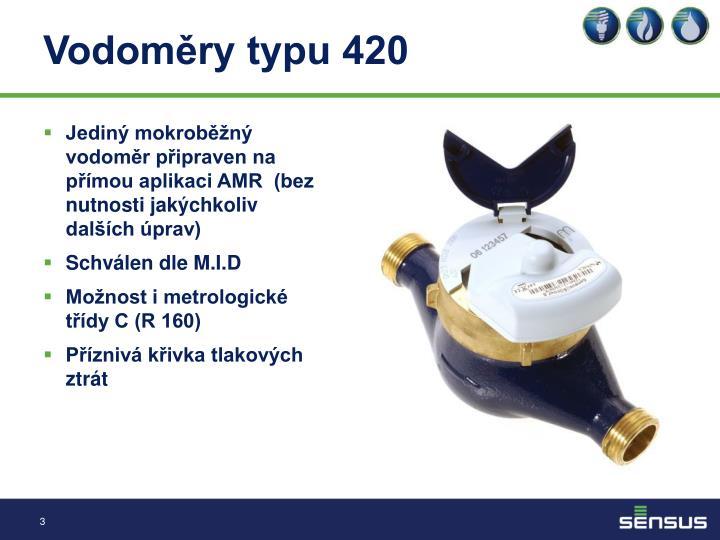 Vodoměry typu 420