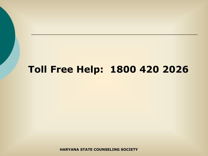 Toll Free Help:  1800 420 2026