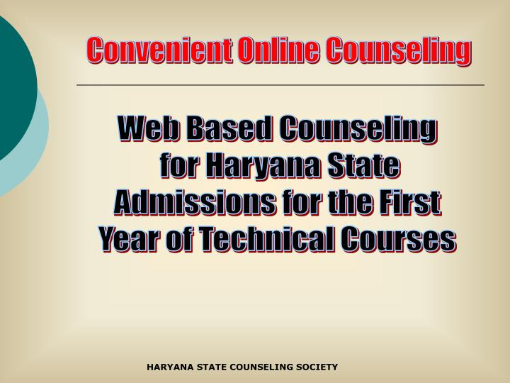 Convenient Online Counseling