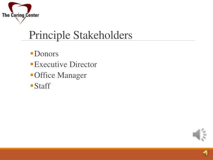 Principle Stakeholders