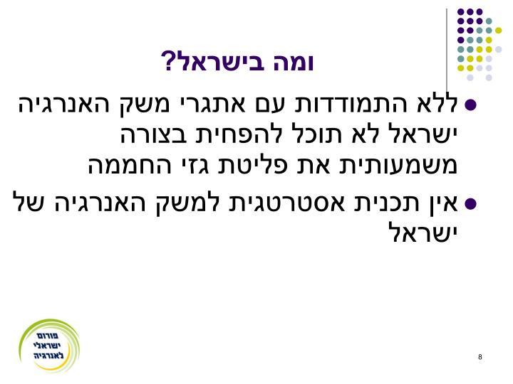 ומה בישראל?