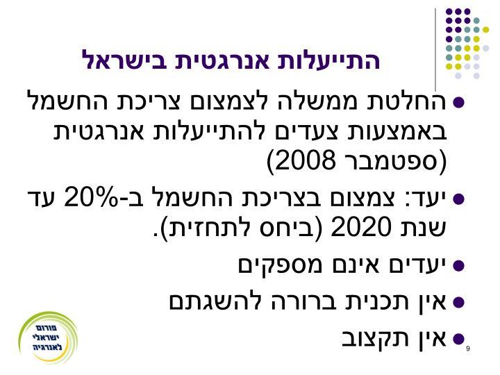 התייעלות אנרגטית בישראל