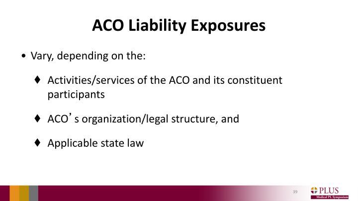 ACO Liability Exposures