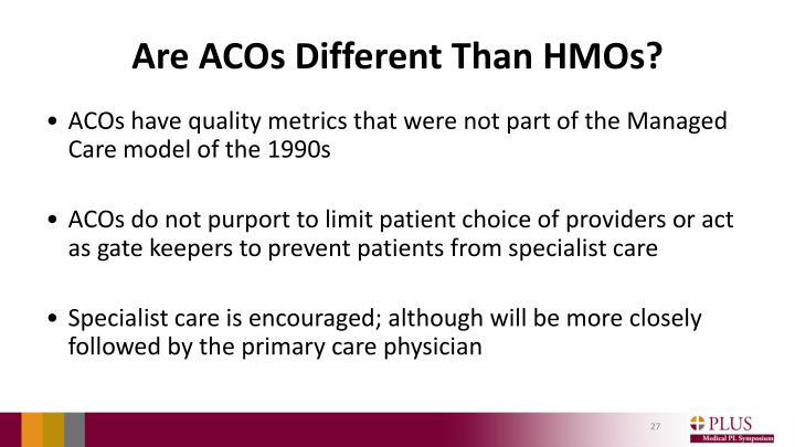 Are ACOs Different Than HMOs?