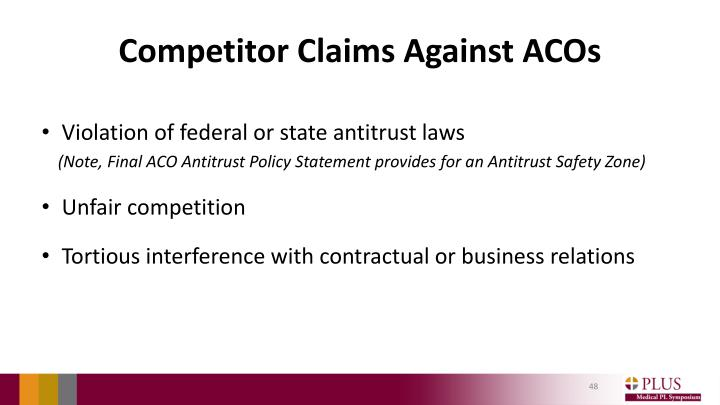 Competitor Claims Against ACOs