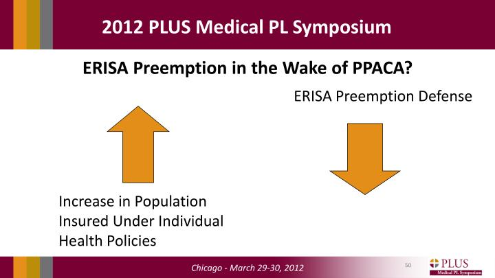 ERISA Preemption in the Wake of PPACA?