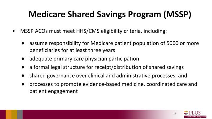 Medicare Shared Savings Program (MSSP)
