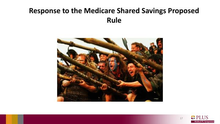Response to the Medicare Shared Savings Proposed Rule