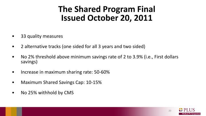 The Shared Program Final